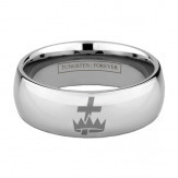 CROWN & CROSS RING 6MM / 8MM