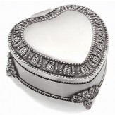 PEWTER-TONE JEWELRY BOX