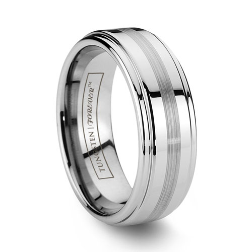 Mens Durable Wide Tungsten Wedding Bands