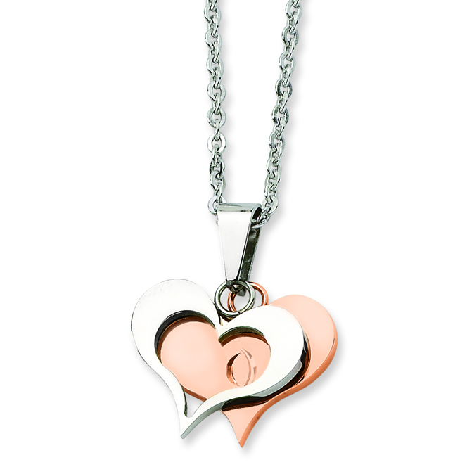Isolde Rose Gold Plated Heart Pendant