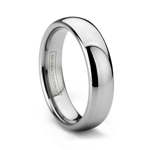 Tungsten Wedding Ring Polished & Domed