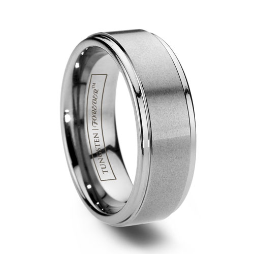 Satin Tungsten Wedding Ring
