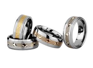 Tungsten Mokume Rings Info