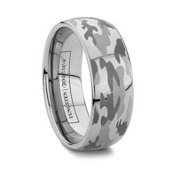 camo wedding rings in tungsten or cobalt camouflage engraving available at tungstenworldcom - Camouflage Wedding Rings