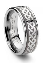 Brushed Tungsten Rings Finishes