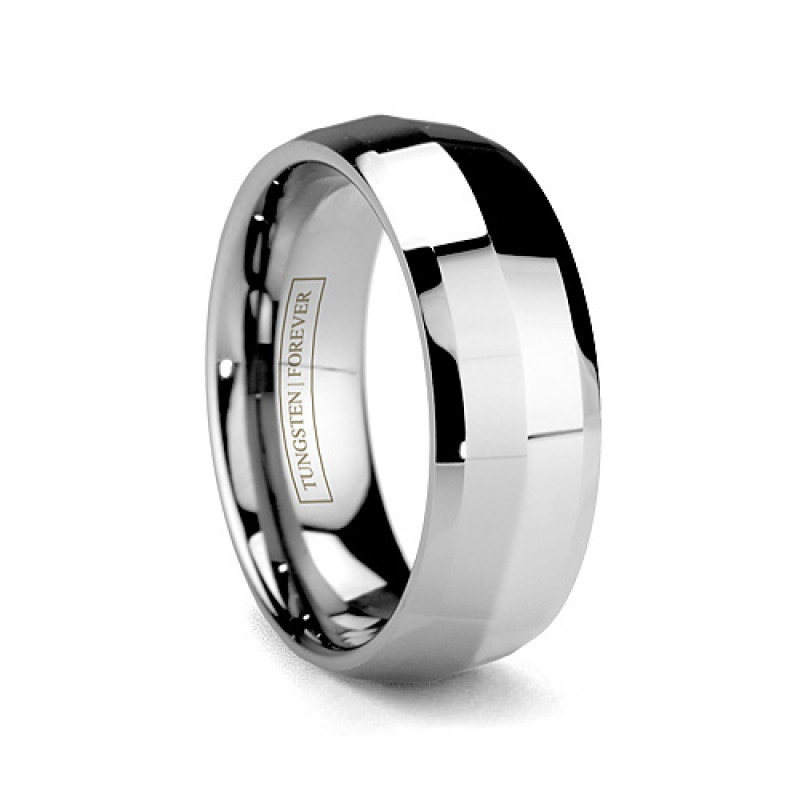 6mm 8mm Mens Tungsten Carbide Wedding Band Durable Jewelry
