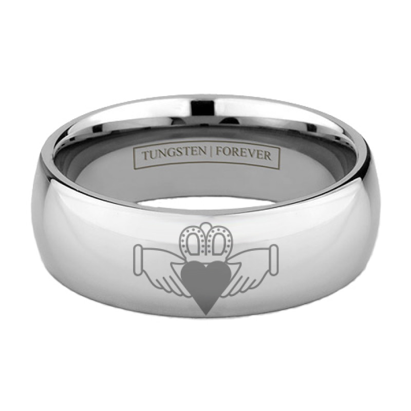 symbol steel titanium women s claddagh give irish love heart bands item traditional wedding my ring of