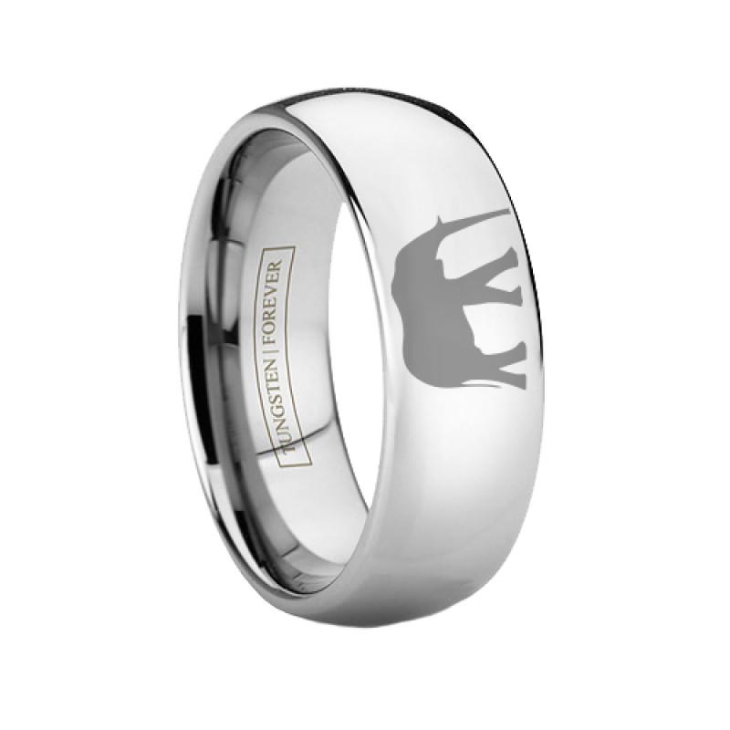 Tungsten Custom Engraved Elephant Ring