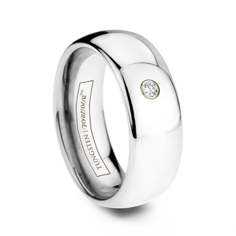 domed band r tungsten wedding with ring solitaire diamond b carbide hsr