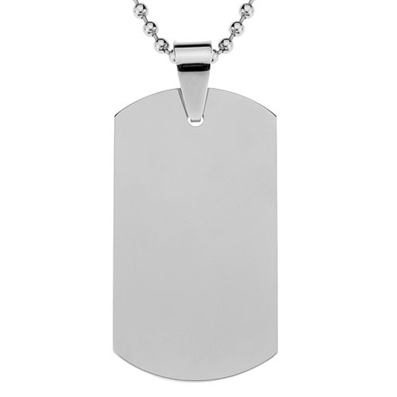 steel carbide pendant stainless necklaces necklace jewelry polished polish neckchain tungsten