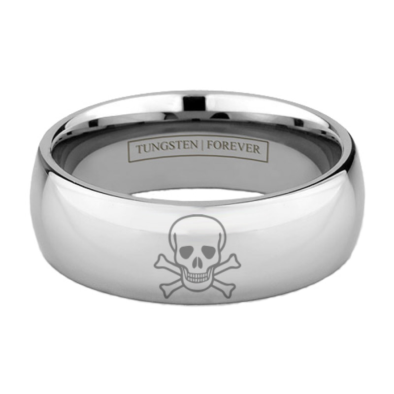 more views - Mens Skull Wedding Rings