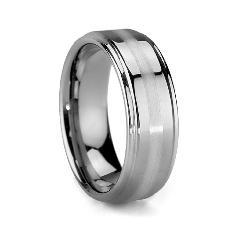 6mm 8mm Platinum Inlay Mens Tungsten Wedding Bands Steeped. Inlay Wedding Bands. Home Design Ideas