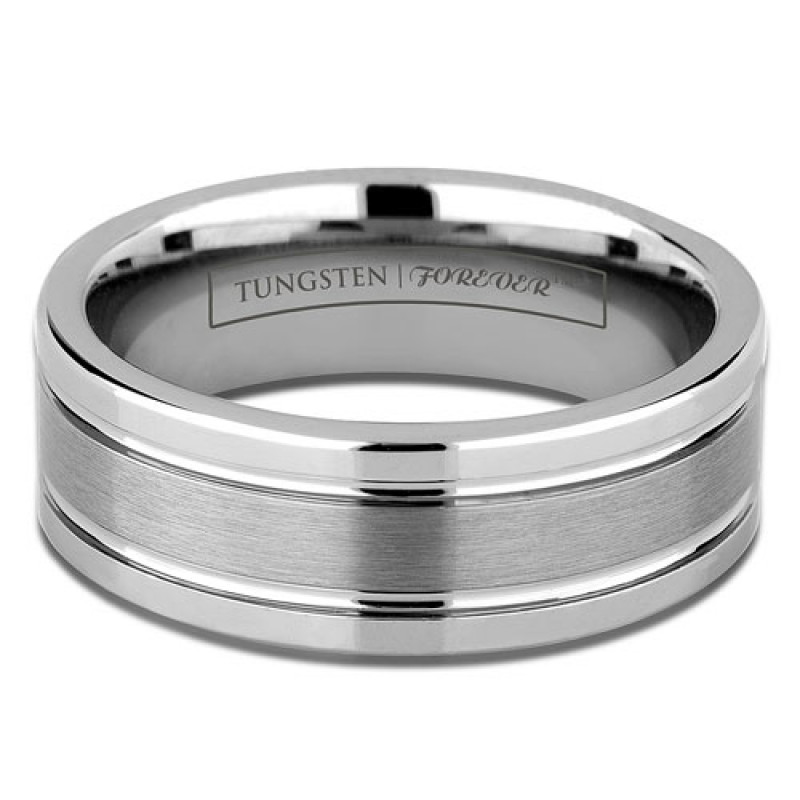 8mm Mens Tungsten Wedding Ring