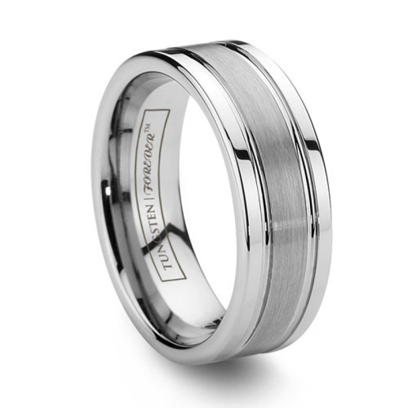 titan 8mm - Tungsten Mens Wedding Rings