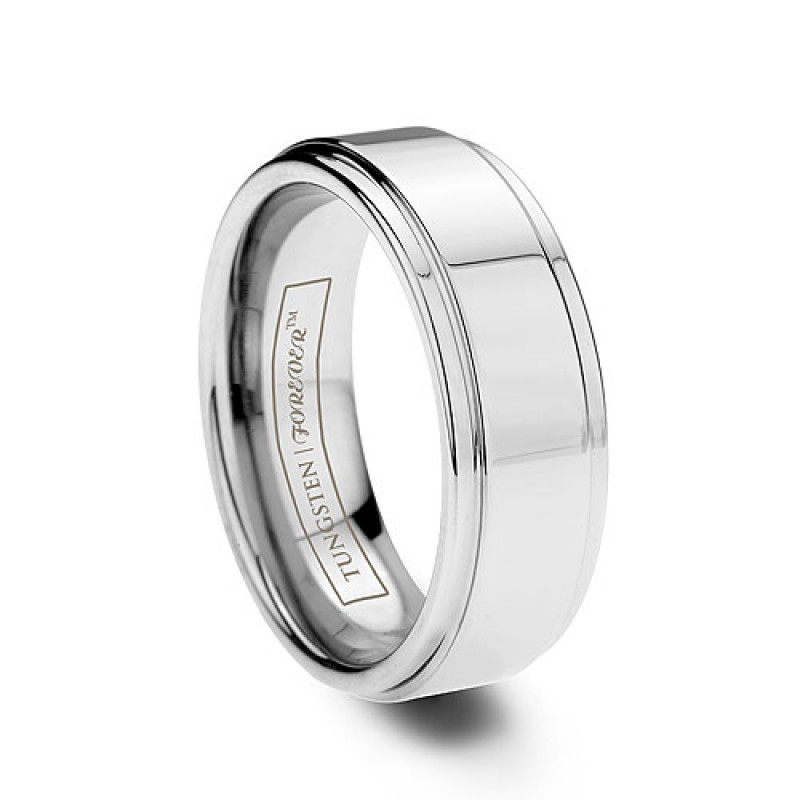 troy 6mm 8mm - Tungsten Mens Wedding Rings