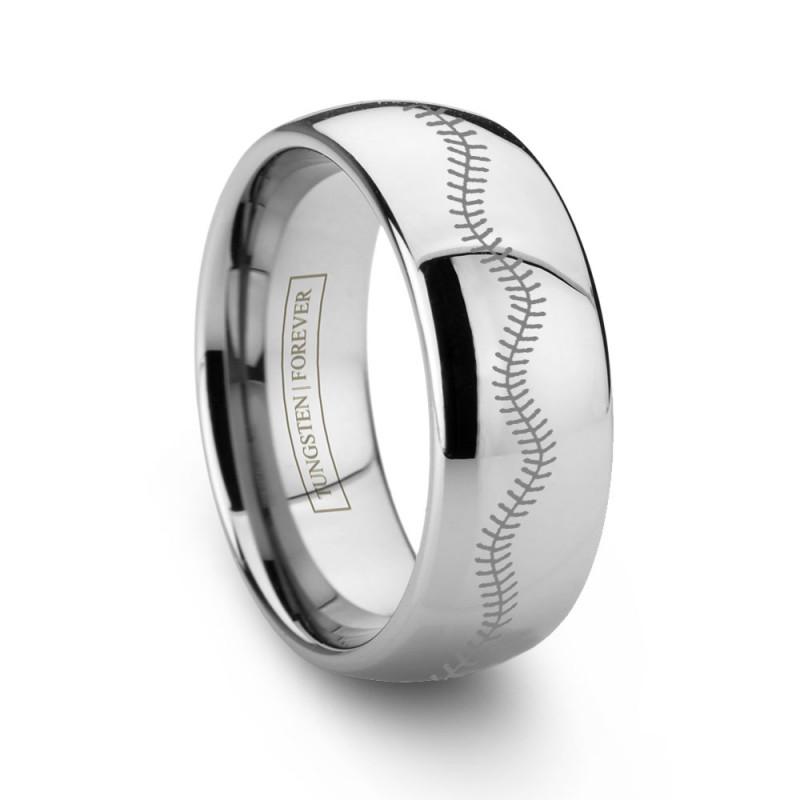 Custom Tungsten Baseball Ring