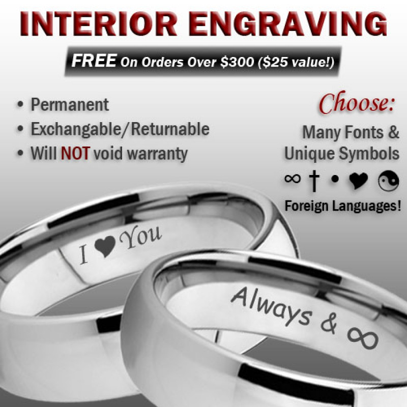 Tungsten Wedding Band Set 6mm /& 8mm Beveled Edge Tungsten Carbide Rings w Black Carbon Fiber Inlay,Bride and Groom Wedding Rings TN214-124