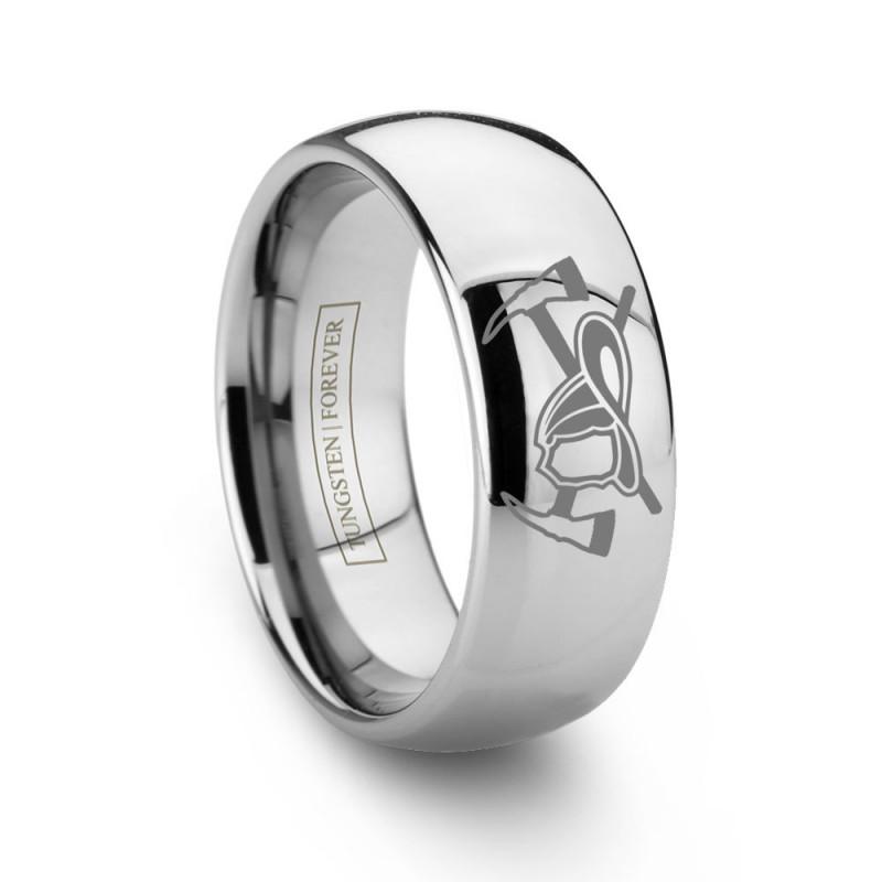 Tungsten Carbide Fireman Ring