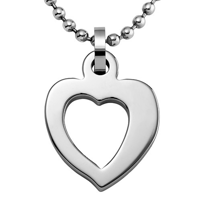 shaped loving single cupid open heart jewelry pendant necklace tungsten