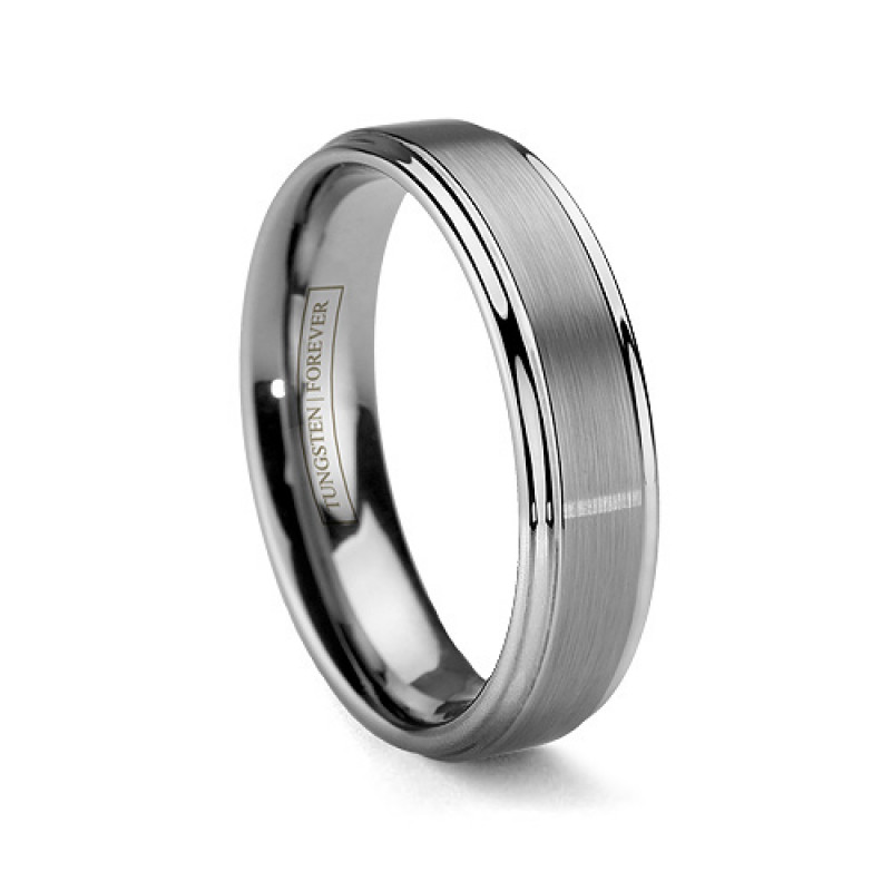 plain tungsten rings dome wedding white ring carbide