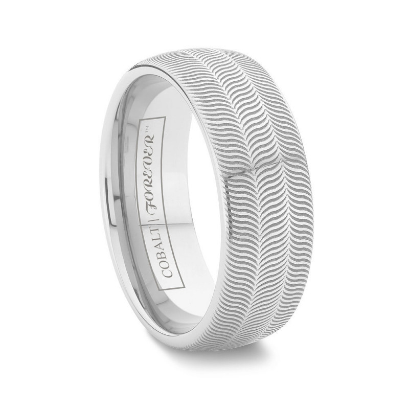 6mm 8mm tire tread cobalt chrome wedding band - Tire Wedding Rings