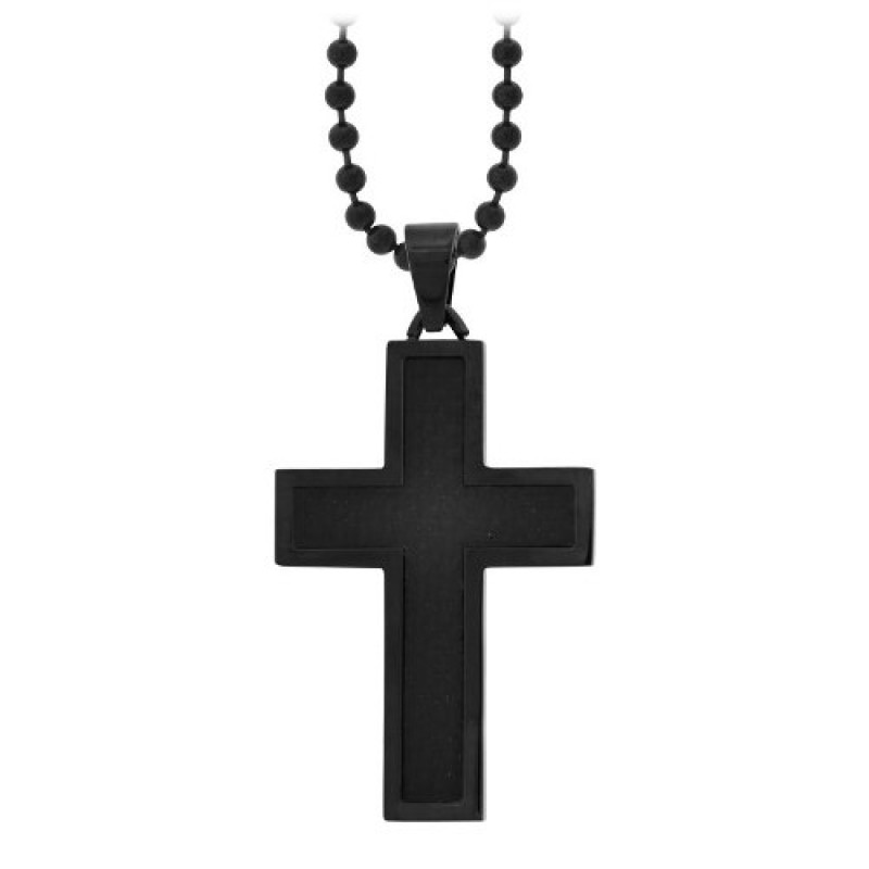 Mark gothic black cross pendant stainless steel jewelry mark aloadofball Image collections
