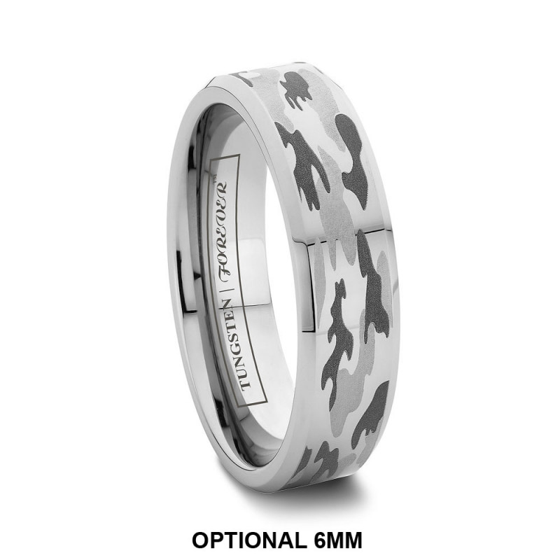 prev next tungsten rings wedding bands sale - White Camo Wedding Rings