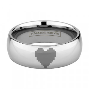 8-BIT TUNGSTEN HEART RING 6MM / 8MM