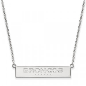 BRONCOS BAR NECKLACE