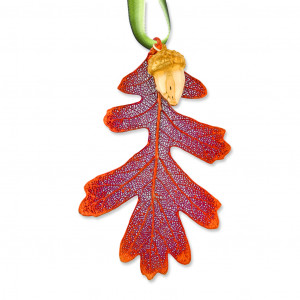 Real Leaf Xmas Ornament