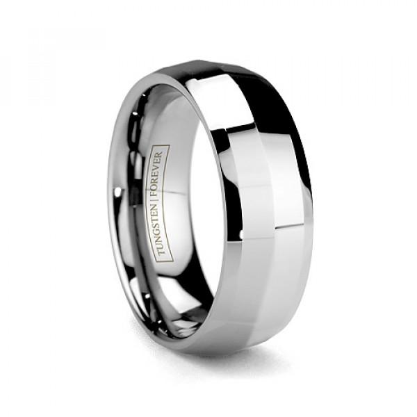 6mm 8mm Men S Tungsten Carbide Wedding Band