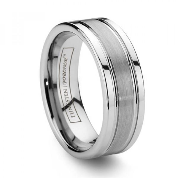 Mens Tungsten Wedding Bands.Titan 8mm