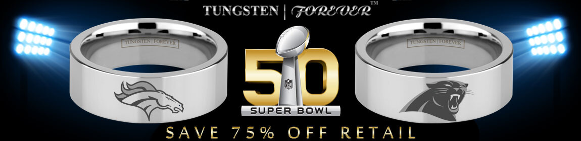 Superbowl 50 Broncos Panthers Ring Logo