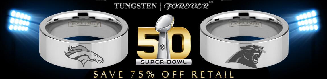 Superbowl 50 Broncos Panthers Ring Logo