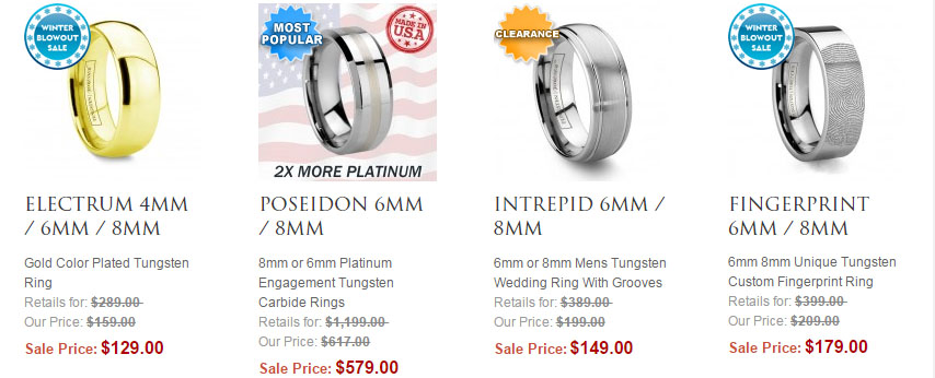 Shop Tungsten Wedding Bands